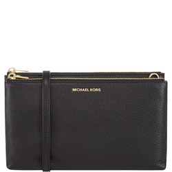 Adele Top Zip Crossbody Bag Black