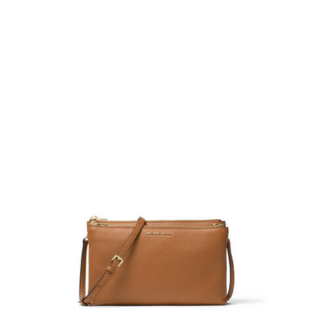 Adele Top Zip Crossbody Bag Brown