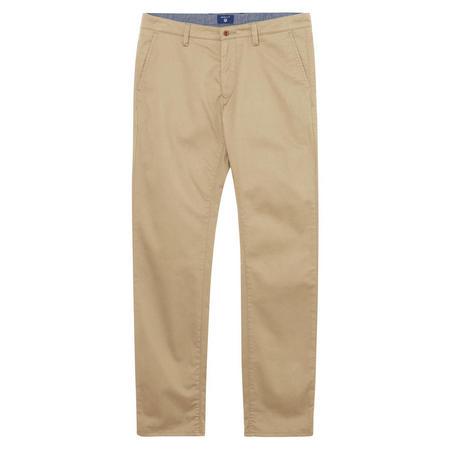 Regular Twill Chino Trousers Beige