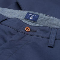 Regular Twill Chino Trousers Blue