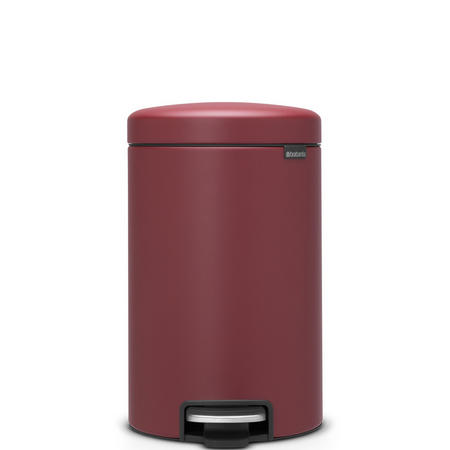 12 Litre Pedal Bin Mineral Windsor Red