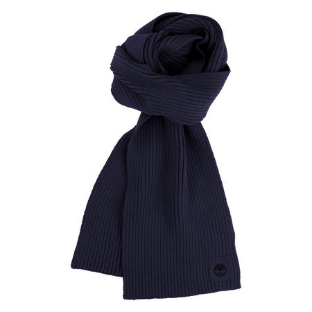 Boys Rib Knit Scarf Blue