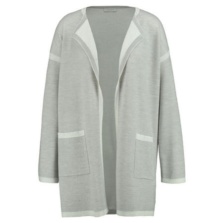 Open Front Jacket Light Grey