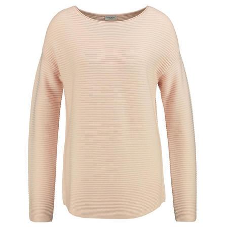 Rib Knit Casual Sweater Peach
