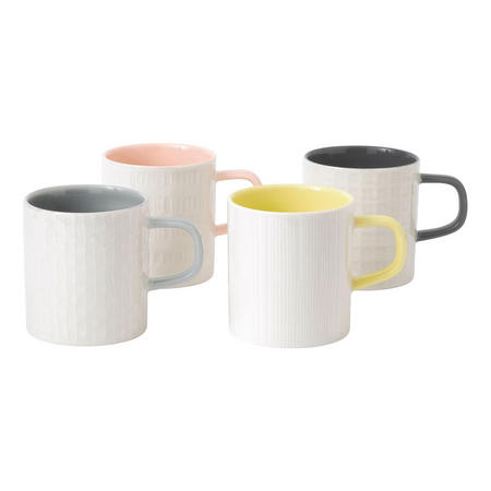 Hemingway Set of 4 Mugs Multicolour