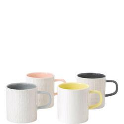 Hemingway Set of 4 Mugs Multicolour