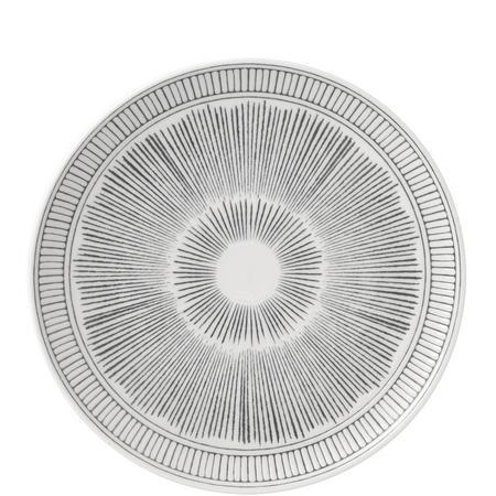 Ellen Degeneres 21cm Plate Cahrcoal Grey Lines