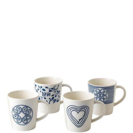 Ellen Degeneres Love Mug Set of 4