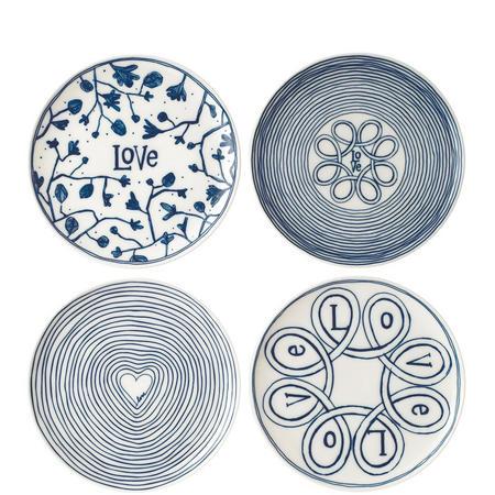 Ellen Degeneres Love Plate Set of 4