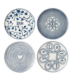 Ellen Degeneres Love Plate Set of 4