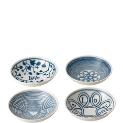 Ellen DeGeneres Love Bowl Four-Piece Set Multicolour
