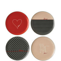 Ellen Degeneres Signature Plate Set of 4