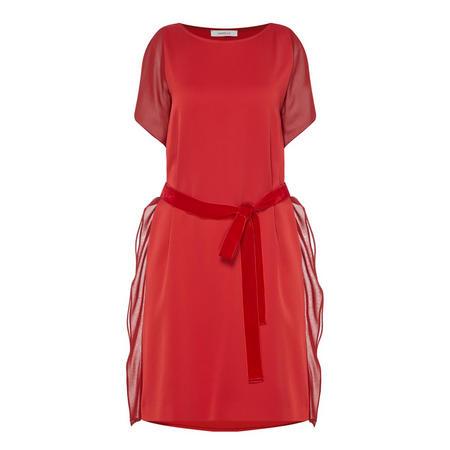 Marra Ruffle Detail Dress Red