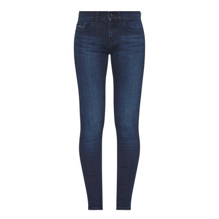 Mid-Rise Skinny Jean Blue