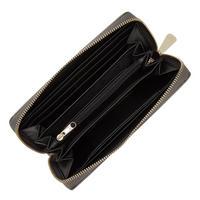 Zip-Around Wallet Metallic