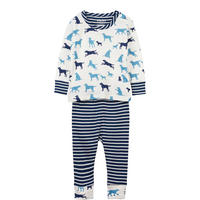 Pup Play Organic Cotton Baby Pyjamas Navy