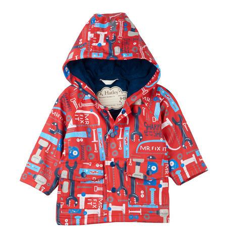 Mr Fix It Baby Raincoat Red