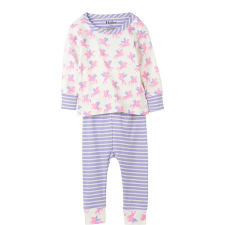 Winged Unicorns Organic Cotton Baby Pyjamas Pink