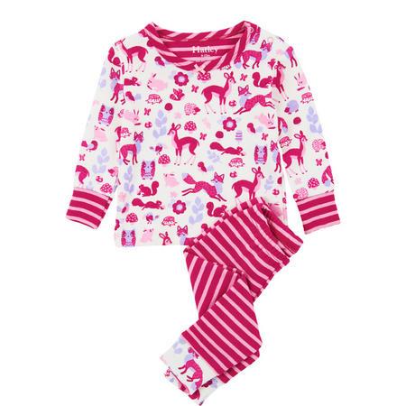 Woodland Tea Party Baby Pyjamas Pink