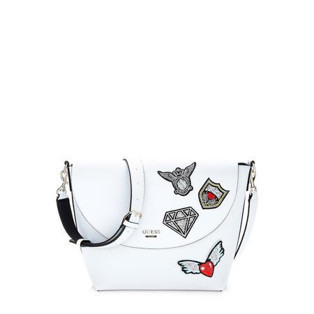Bobbi Embroidered Crossbody Bag White
