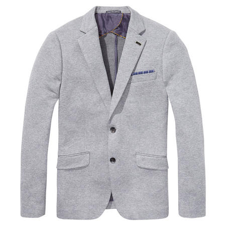 Two Tone Jersey Blazer Grey
