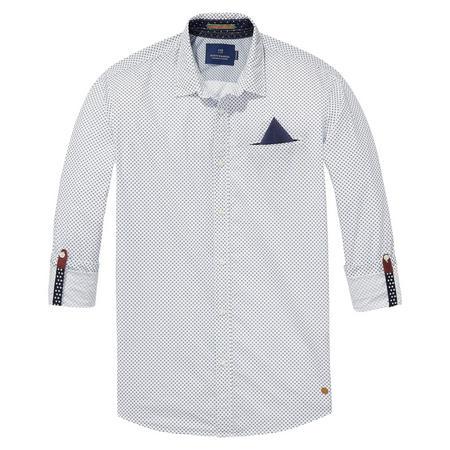 Half Sleeve Printed Shirt White