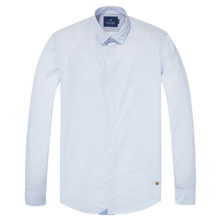 Micro Stripe Slim Fit Shirt Blue
