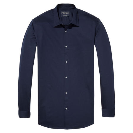 Slim Fit Fine Jersey Shirt Blue