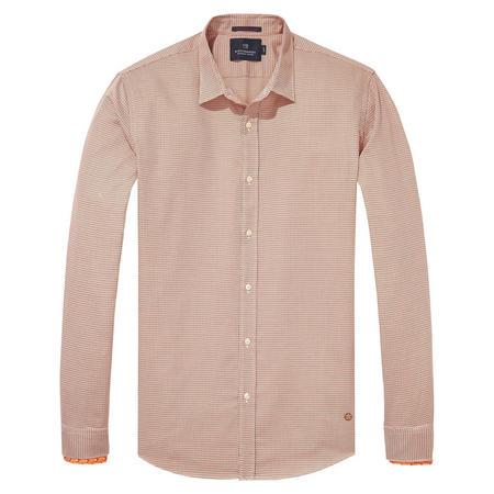Printed Shirt With Detachable Cuffs Orange