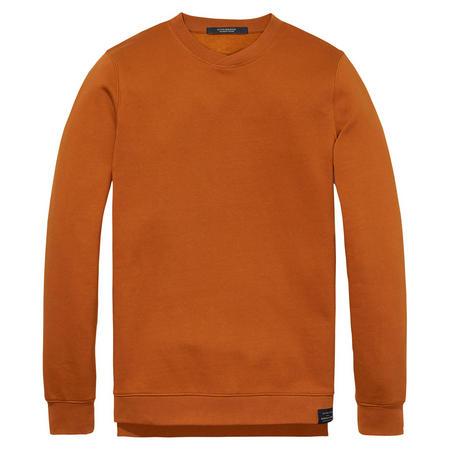 Cross Crew Neck Sweater Orange