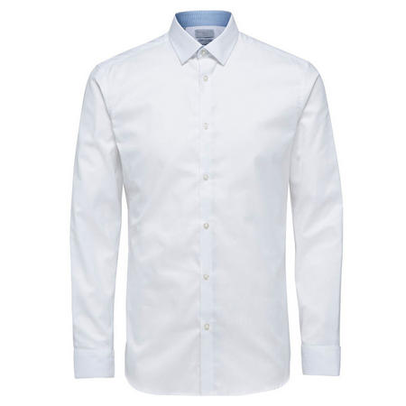 Mark Long Sleeve Shirt White