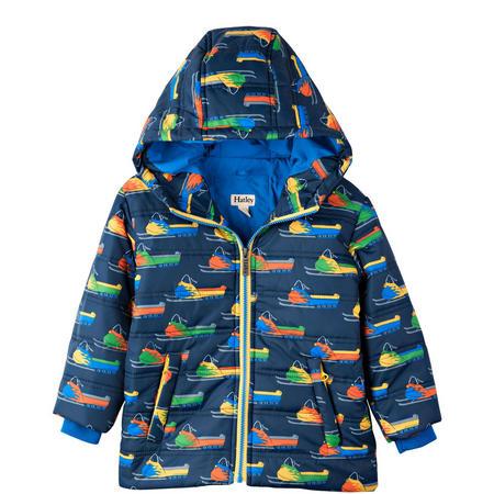 Retro Ski Zip Jacket Navy