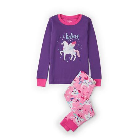 Winged Unicorns Applique Pyjamas Pink
