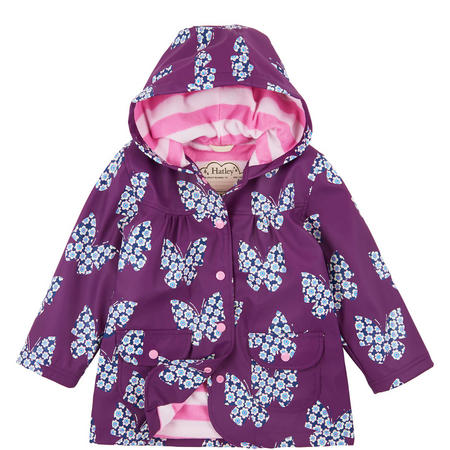 Butterflies & Buds Raincoat Purple