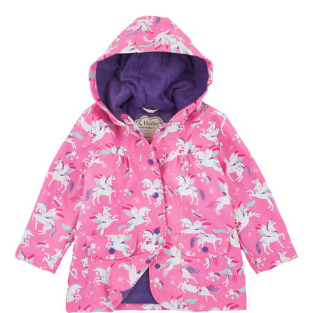 Winged Unicorns Raincoat Pink
