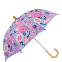Wintery Blooms Umbrella Purple