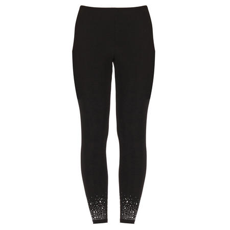 Slim Fit Diamante Trousers Black