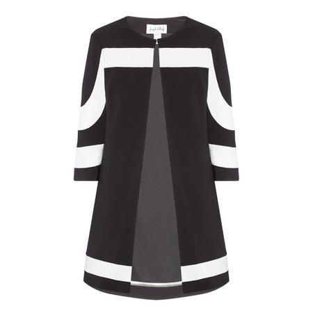Open Front Jacket Black