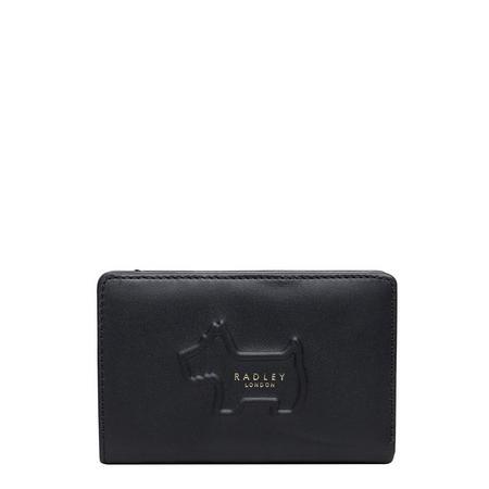 Shadow Zip Close Wallet Black