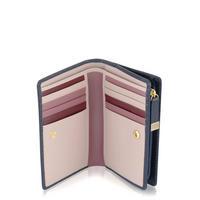 Shadow Zip Close Wallet Navy