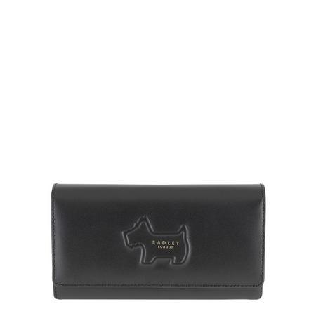Shadow Flap Close Wallet Black