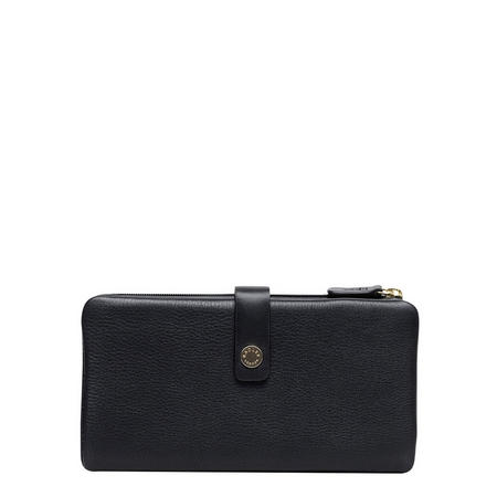 Larks Wood Tab Wallet Large Black