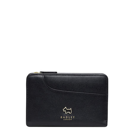 Pocket Zip Close Wallet Black