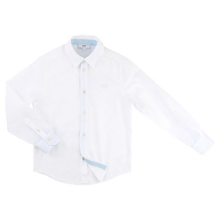 Textured Cotton Shirt White