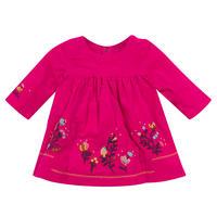 Embroidered Velvet Dress Pink
