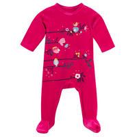 Printed Velvet Bodysuit Pink