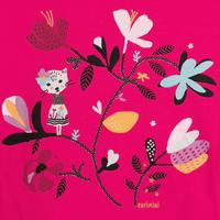 Printed Long Sleeve Top Pink