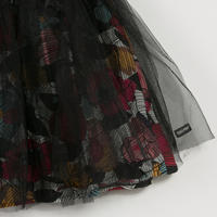 Printed Tutu Skirt Black