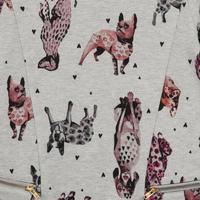 Animal Print Zip Dress Grey