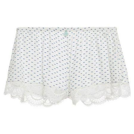 Noche De Luna Pyjama Shorts White